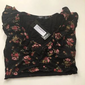 NWT you've Outgrown Them Floral Crop Top